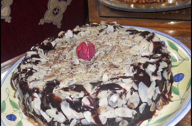 Gâteau au chocolat & aux amandes
