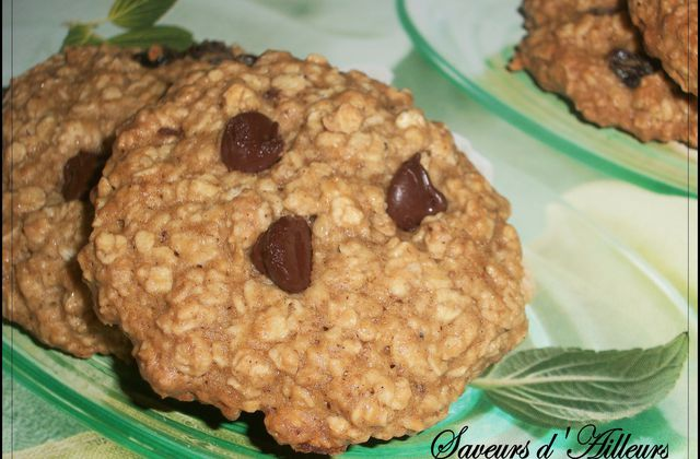 Oatmeal Cookies made in USA : Flocons d'avoine - chocolat