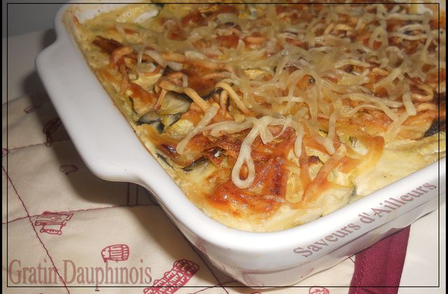 Ronde Interblog : Gratin Dauphinois version Courgette