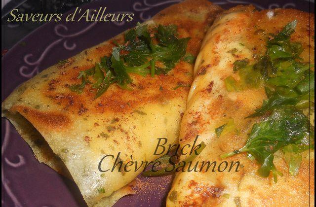 Croustillante Brick saveur pesto - Chèvre Saumon