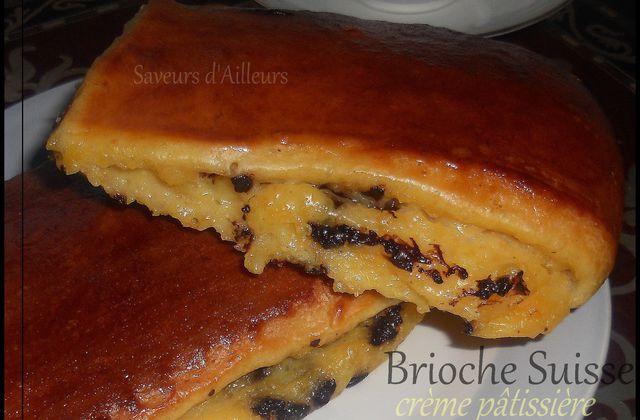 Brioches Suisses (ou pépitos) à la crème pâtissière & pépites de chocolat