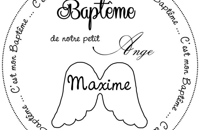 Un tampon personnalisé pour le Baptême de Maxime ...