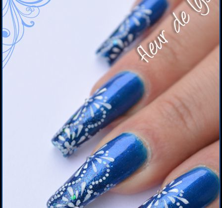 Nail Art - Feux d'artifice ( Stamping )