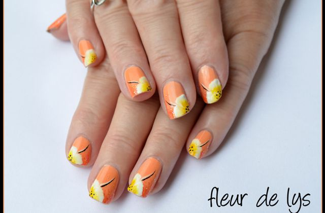 Nail Art One stroke douceur (ongles courts)