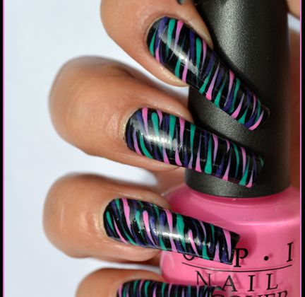 Nail Art facile multicolore (+tutoriel )
