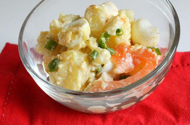 Salade piémontaise légère {aux oeufs de caille et au poulet}