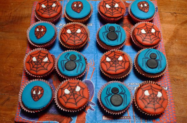 Cupcakes Spiderman