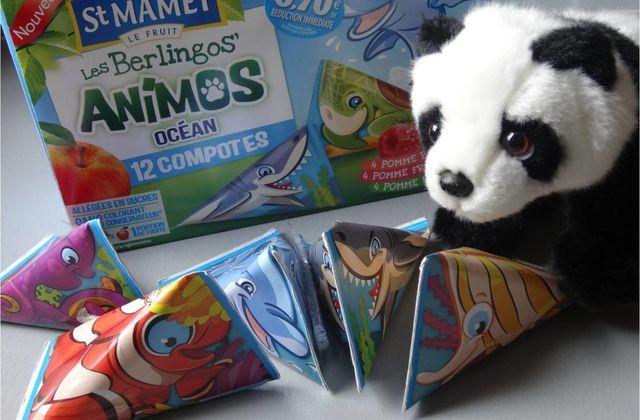 Peluche Panda et compotes en berlingots = le bonheur ! ♥