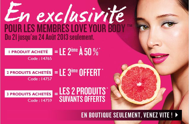 Promo THE BODY SHOP