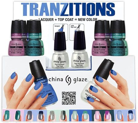 1 vernis, 2 couleurs - Tranzitions China Glaze