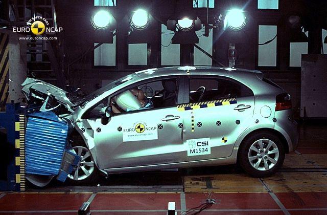 La nouvelle Kia Rio décroche ses 5 étoiles aux crash-tests de l'EuroNCAP.