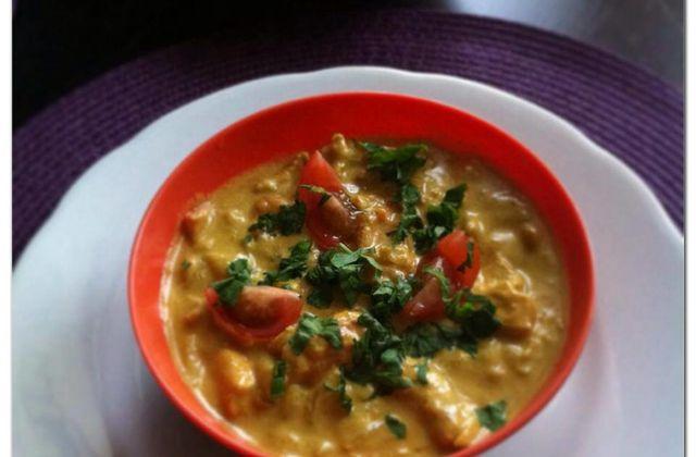 Curry de poulet au lait de coco !