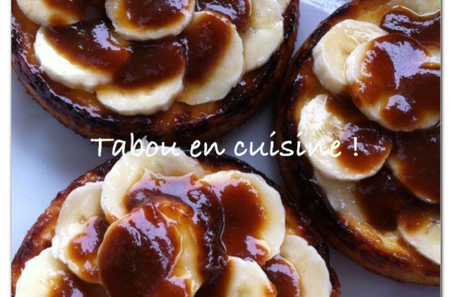 Cheesecake bananes et caramel !