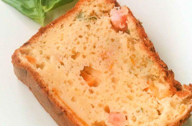 Cake salé crevette - pêche au sirop
