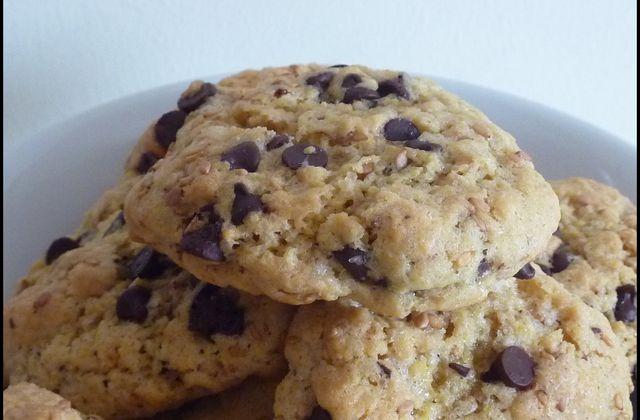 Cookies au sésame grillé et pépites de chocolat