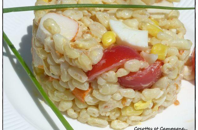 Salade d'Ebly au Surimi
