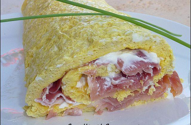 Omelette au jambon et au fromage revisitée...
