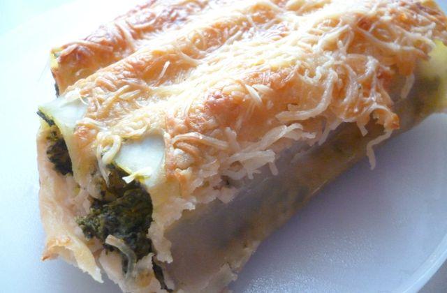 Cannelloni aux épinards - chaource et pignons de...