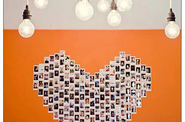 "DIY déco : un poster ""coeur"" de photos Instagram."
