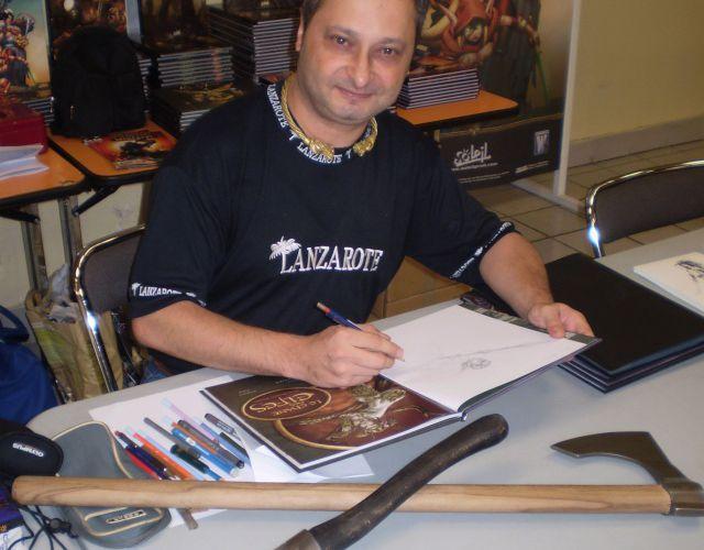 Mike Ratera en dédicaces le 17 octobre (1/3)