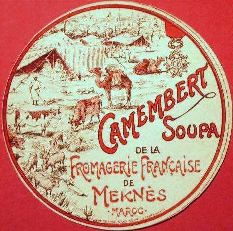 Le camembert Soupa de la fromagerie française de Meknès
