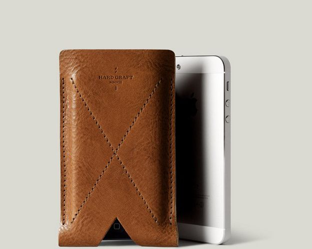 "IPHONE CARD CASE by HARD GRAFT / ""HERITAGE"" COLLECTION"