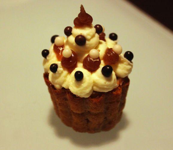 Cupcakes de Noël aux marrons... sous la neige !