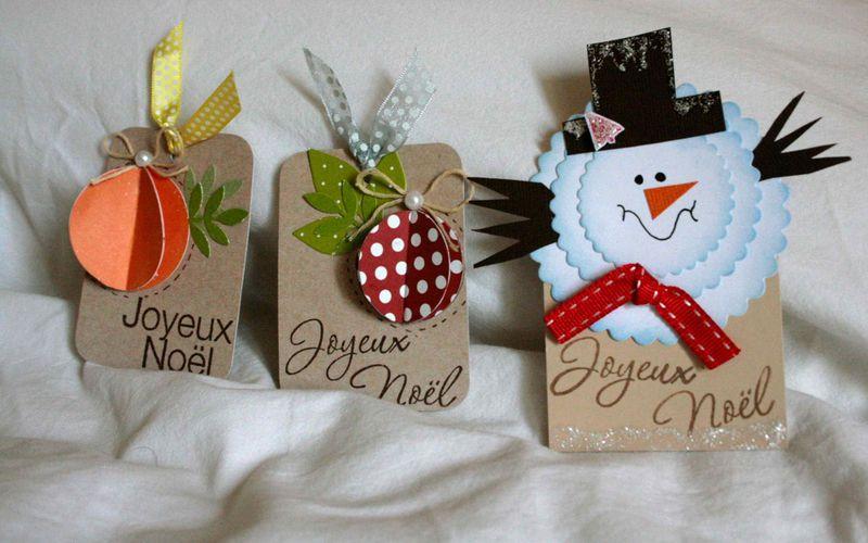 Petites étiquettes de Noël