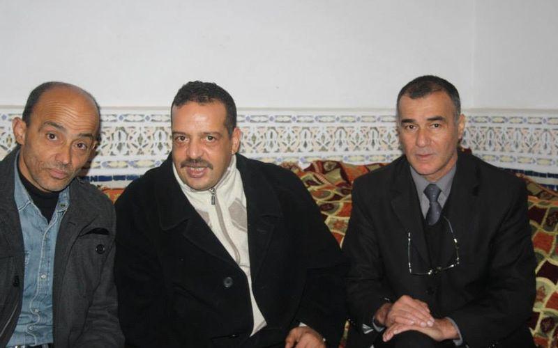 Avec Noureddine Chemmasse, Abderrahim Amrani et l'association des Amis de Medea.