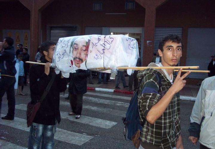 Rabat : Manifestation impressionnante du Mouvement du 20 février. Le mot d'ordre adressé au Régime est de dégager !