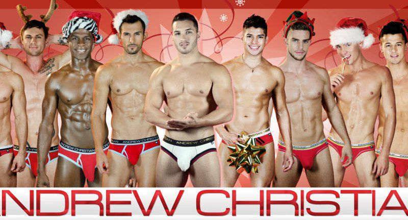 Hunky Santas: The Holiday Card 2012 by Andrew Christian