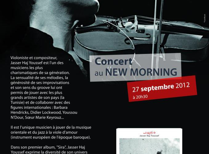 Paris : concert unique de Jasser Haj Youssef au New Morning, le 27 septembre