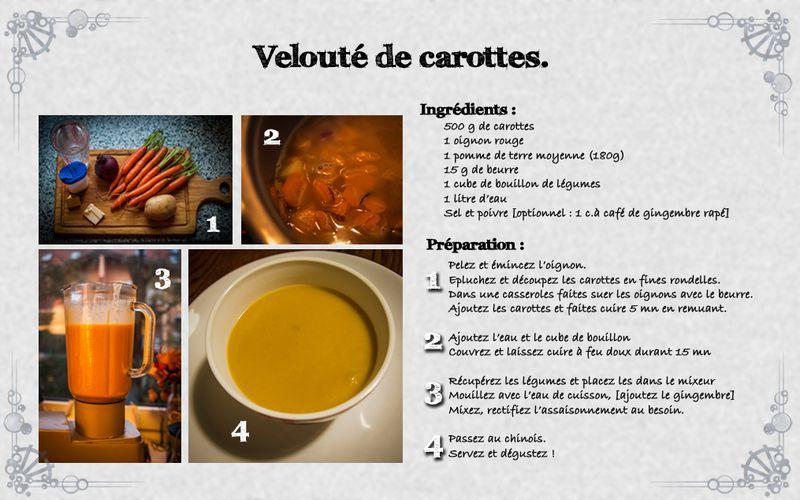 [Recette] Velouté de carottes.