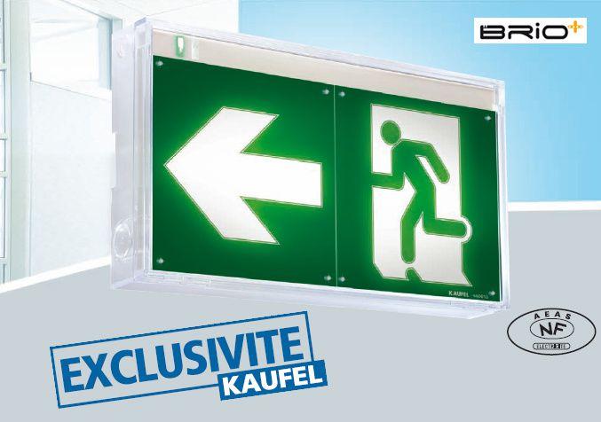 Brio+ de KAUFEL, la gamme blocs de secours 100% LED à découvrir chez MELPRO !