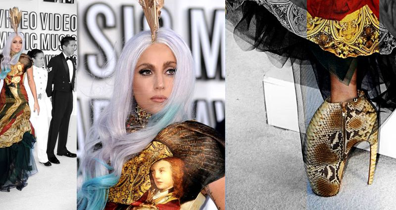 VMA / LADY GAGA / DRESS AND SHOES BY ALEXANDER MCQUEEN
