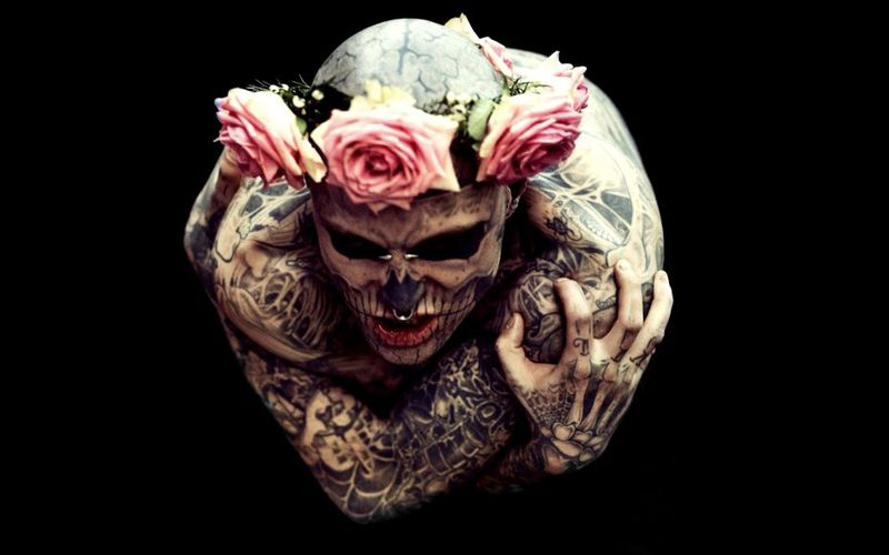 THE ROSES MAN IS RICK GENEST