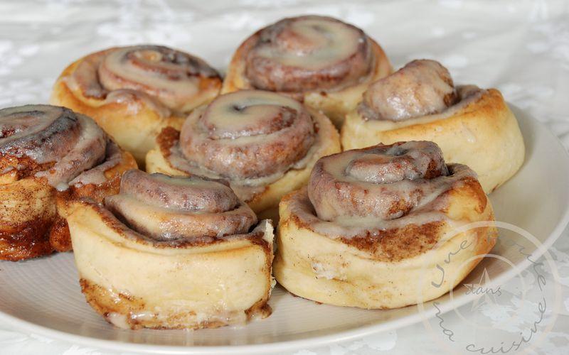 Cinnamon rolls - petits pains à la cannelle