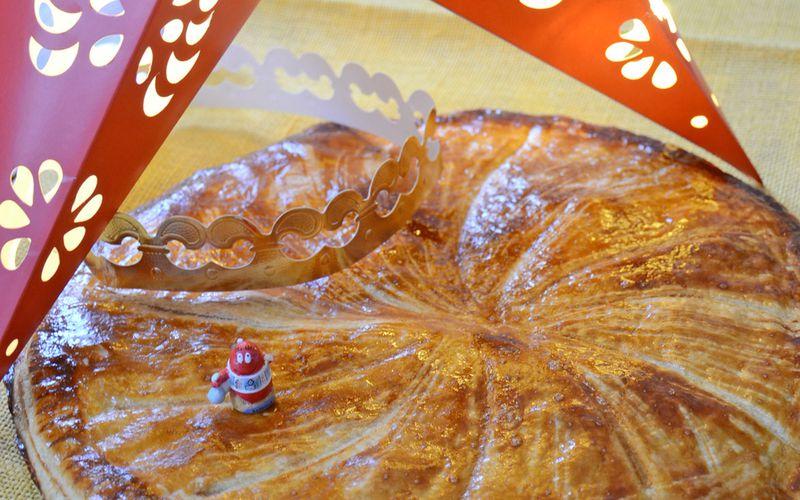 Galette des rois pommes poires, crème de caramel au beurre salé