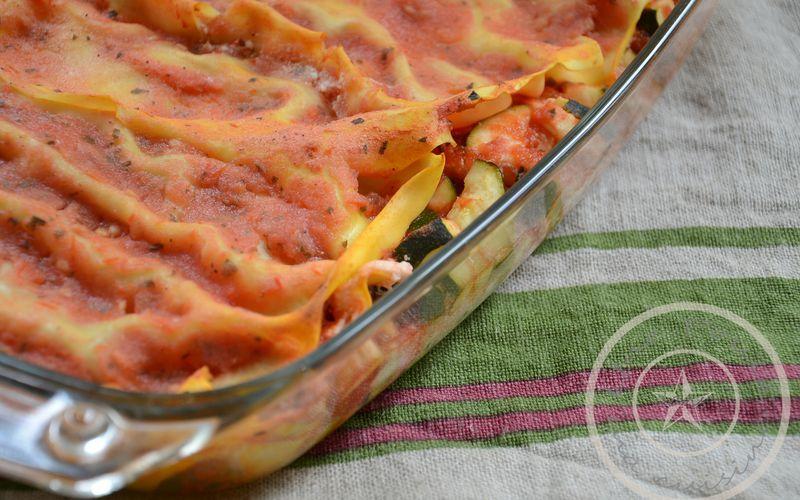 """Lasagnes """"light"""" végétariennes: ricotta et tomate"""