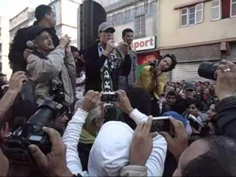 Mouad L7a9eD à la Marche de Derb Soltane contre le régime criminel de Mohammed VI ce 15 Janvier 2012