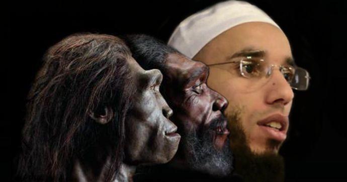 Toujours les même absurdités, celui qui écoute cet imbécile sera transformé en islamopithèque!