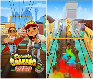 The controls in the game Subway Surfers Jake
