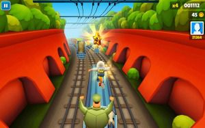 Subway surfers play on the computer