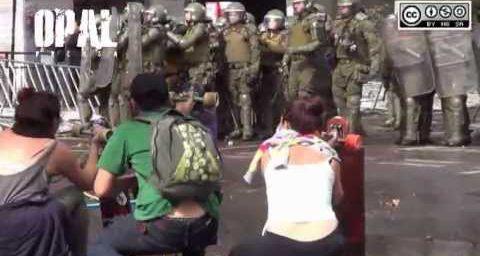 Chili : répression violente lors de la manifestation du 1er Mai à Santiago