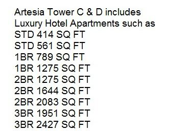 Artesia Tower C & D 1BR Hotel Apartments