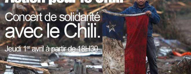 ACTION POUR LE CHILI GRAND CONCERT DE SOLIDARITE AVEC LE PEUPLE CHILIEN le 1 Avril (Paris 13)