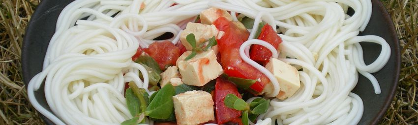 salade de somen au pourpier