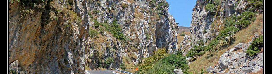 Crète : les gorges d'Imbros. Le mythe de Pandore