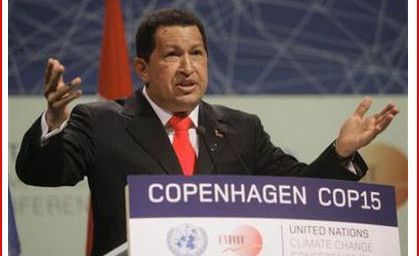 Hugo Chavez à Coppenhague _ Le climat