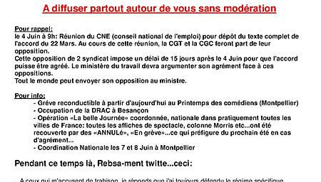 5 juin 2014 : Action de la CIP-MP